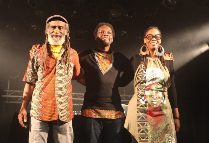 Maëva Duverger (alias Yawa), Christophe Rangoly (Papa Slam) et Louis Gomis (Dj Junkaz Lou)